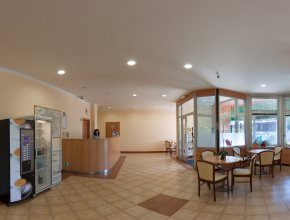 Reception and lobby areas of the Hotel Chodov Praha