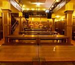 The stylish interior of the brewery/restaurant Jihoměstský Pivovar