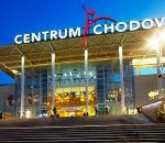 Main entrance to the complex of the Chodov shopping center