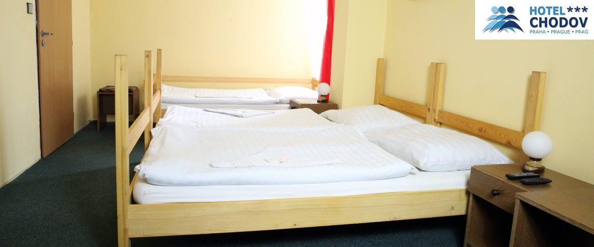 Hotel Chodov Praha - interior of a triple room in the inexpensive Budget** category