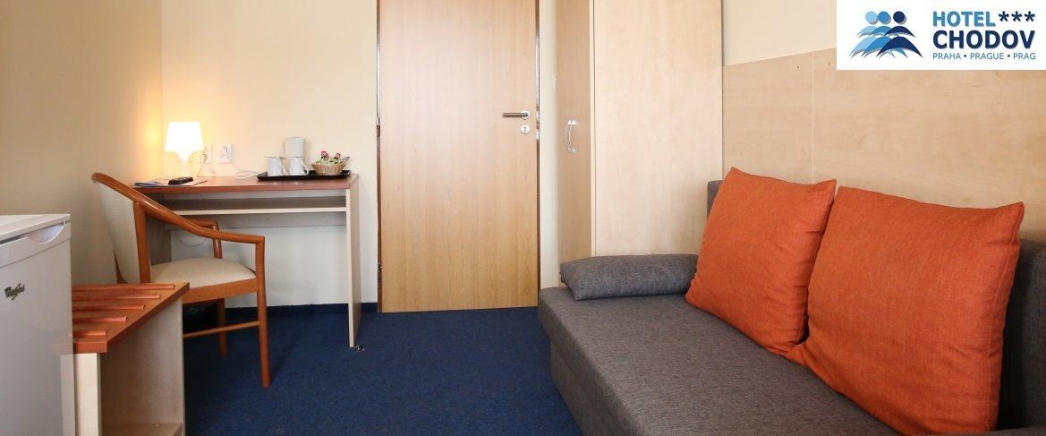 Hotel Chodov Praha - interior of a comfortable Superior*** EXTRA category room with extra amenities including a sofa and a work desk