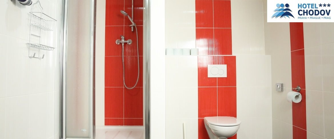 Hotel Chodov Praha - a modern bathroom in comfortable Superior*** category rooms with a shower
