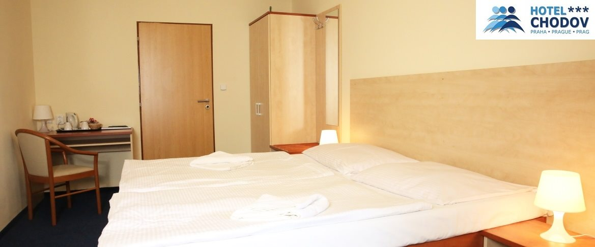 Hotel Chodov Praha - interior of a comfortable Superior*** category room set up with a double bed