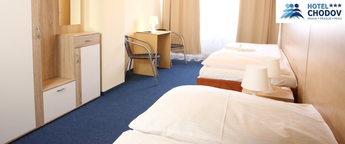 Hotel Chodov Praha - interior of a comfortable Superior*** category room set up with separate beds