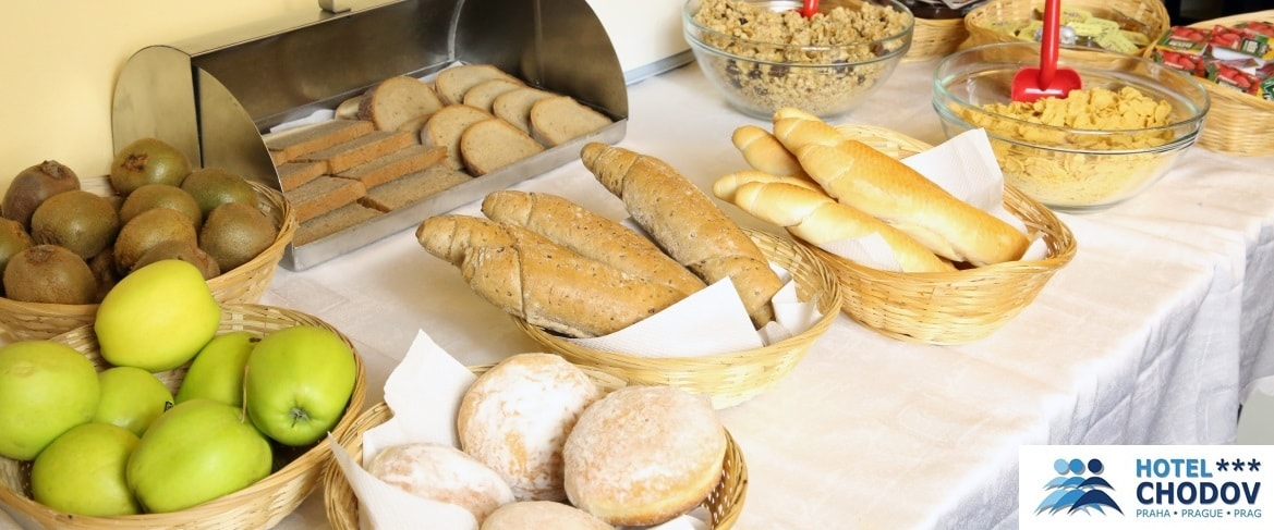 Hotel Chodov Praha - hotel breakfast in the form of a self-serve buffet with fresh baked goods