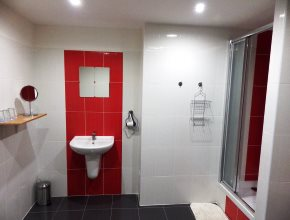 Interior view of the bathroom of a comfortable Superior*** category room