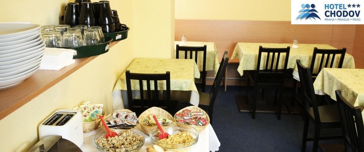 Hotel Chodov Praha - hotelový snídaňový salonek se nachází na druhém patře hotelu