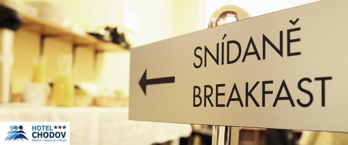 Hotel Chodov Praha - bohatá snídaně je vždy v ceně pobytu